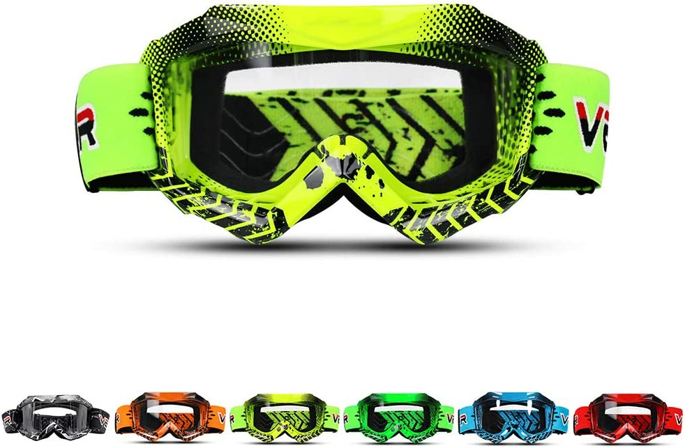 TZTED Motocross Goggles Motorcycle Goggles for Kids TPU Windproof UV Dirt Bike Goggles Boys /& Girls