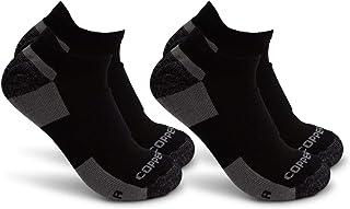 Copper Fit (2 Pairs) Mens Walking No Show Socks For Men Moisture Wicking Ankle Socks Men Low Cut Compression Socks