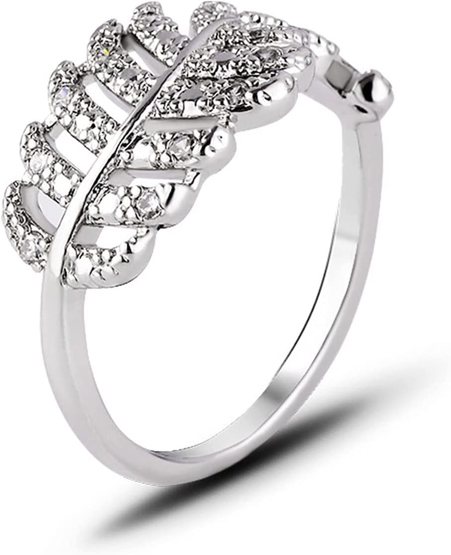 Ring Personality Diamond Leaf Engage Seasonal Wrap outlet Introduction Sweet Small Fresh