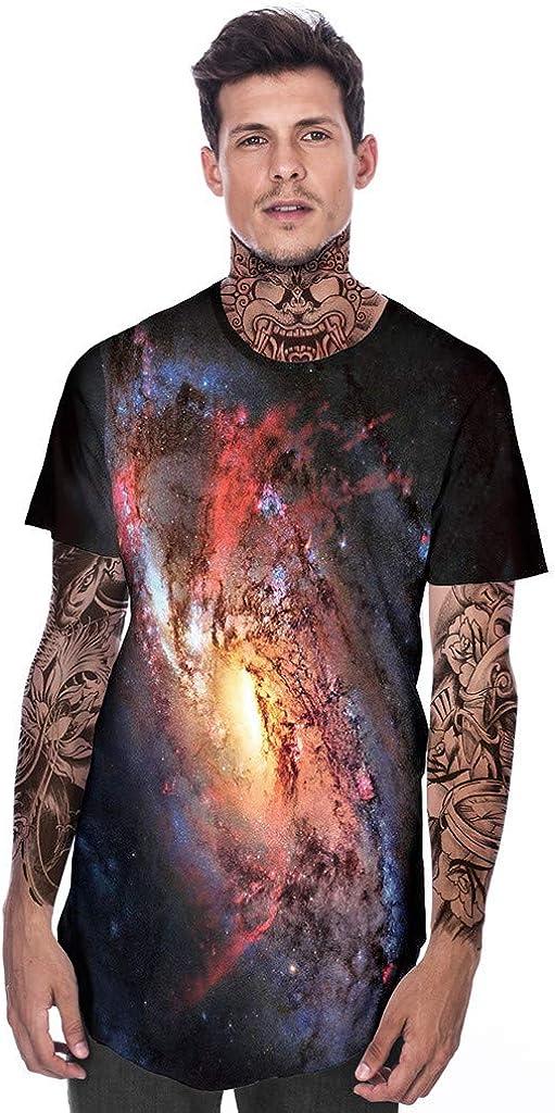 Jan STORE Men's 3D Print Fun Shirt Summer Casual Long T Shirts for Men