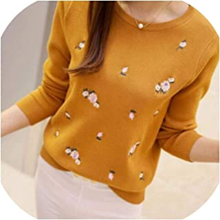 Winter Sweaters Women Embroidery Ladies Pullover Female Autumn High Elastic Jumper Fashion Winter Tops Pull