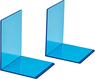Maul Pack of 2 Premium Acrylic Bookends 10 x 10 x 13 cm Neon Blue