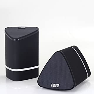 August MS625 - Portable Dual Bluetooth Speakers - Wireless Stereo Speakers for TVs, Laptops, Tablets, Smartphones