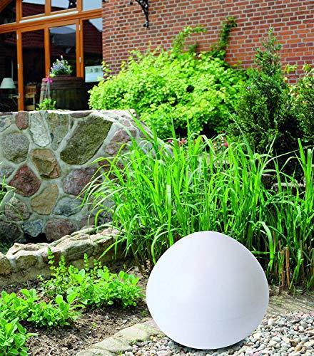LED Solar Stein Kugelform rund incl. Erdspiess für Garten, Teich, Eingangsbereich, Outdoor