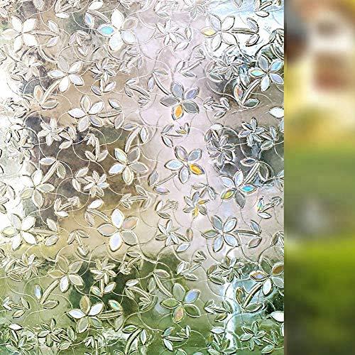 CHOGNYA Fensterfolie Selbsthaftend Blickdicht 45x200 cm, Milchglasfolie Bad Folie für Duschkabine Milchglas Blickdicht Sichtschutzfolie Statisch Haftend Glastüren Badfenster
