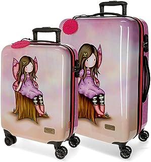 Santoro Gorjuss Wishing and Hoping Set de Bagages Multicolore 55/67 cms Rigide ABS Serrure TSA 97L 4 roues doubles Bagage ...