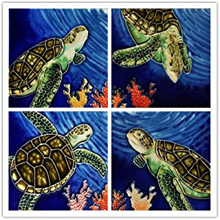 Turtles - Decorative Ceramic Art Tile / 4