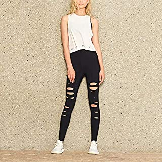 YKDY Yoga Trousers Sports Fitness Bottoming Solid Color Elastic Hip Yoga Pants Sports Leggings (Color : Black, Size : XL)