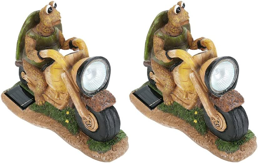 Aspen Ranking TOP16 Creative 60901 Two Pack online shop Set Solar Turtle Motorcycle a on