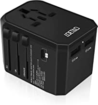 LOETAD Travel Adapter Universal USB Charger 33W PD Quick Charge 3.0 Type C Worldwide Use with Double Fuse AU US EU UK Plug