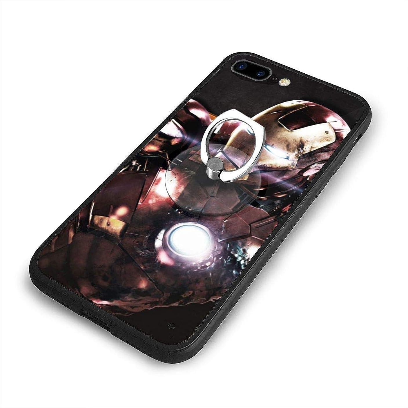 女性ファンブル結婚したアイアンマン Iron ManiPhone 7/8 Plusケースリングブラケット 携帯カバー 創意デザイン軽量 傷つけ防止 360°回転ブラケット 携帯ケース PC 衝撃防止 全面保護