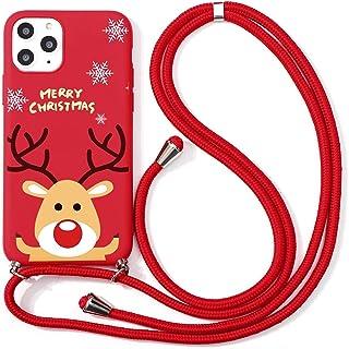 """Yoedge Łańcuszek na telefon komórkowy do Apple iPhone 13 Pro 6,1"""", motyw bożonarodzeniowy etui ze sznurkiem do zawieszenia..."""