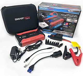 Smartech Portable Power Bank/Jump Starter 15000mAh Lithium Powered Vehicle Jump Starter and Device Power Bank | Jumpstart Most 12V Lead Acid Batteries, Up to 70 times on a Single Charge |