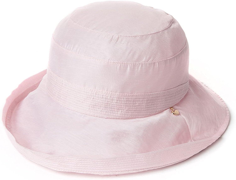 ZHANWEI Fisherman Hat Summer Female Fiber AntiUV Sun Predection Dome Adjustable 4 colors 5758cm (color   Pink)