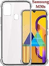 Jkobi Silicon Flexible Shockproof Corner TPU Back Case Cover for Samsung Galaxy M30s -Transparent