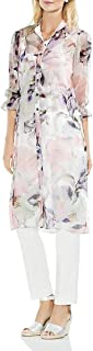 Women's Sleeve Side Tie Diffused Bloom Long Tunic