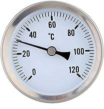 teng hong hui Calentar el Acero del Tubo de Agua Caliente de Acero Inoxidable 120 ° termómetro bimetálico termómetro Pipe Temperatura del Agua a Prueba de marcación 6m Medidor de Temperatura
