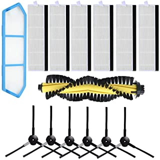 HKCH Replacement ILIFE A4 Brushes ILIFE Filters ILIFE Replacement Kits ILIFE Brush Replacement ILIFE Filters A4 ILIFE Side Brushes Main Brush for ILIFE A4 Robot Vacuum Cleaner