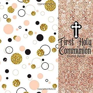 اولین کتاب میهمان مقدس مقدس: کتاب پیام نگهداشت با فهرست هدیه و صفحات عکس ، برای خانواده و دوستان ، بازدید کننده ثبت نام کنید تا وارد شوید ، برای استفاده ... نظرات ، پسران و دختران (هدایای مقدس)