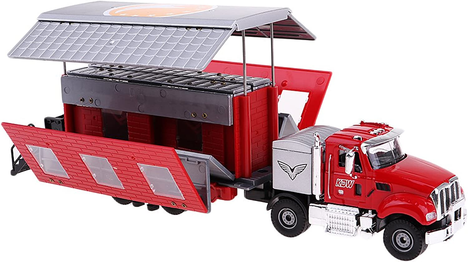 D DOLITY 1 50 Motorhome Camper Model Double Layers Vehicle for Model Collection Hobby Red