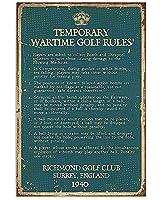 ゴルフポスターゴルフ臨時戦時ゴルフ規則ポスターカフェ、バー、家、中庭の壁ブリキサインポスター8 x 12インチ
