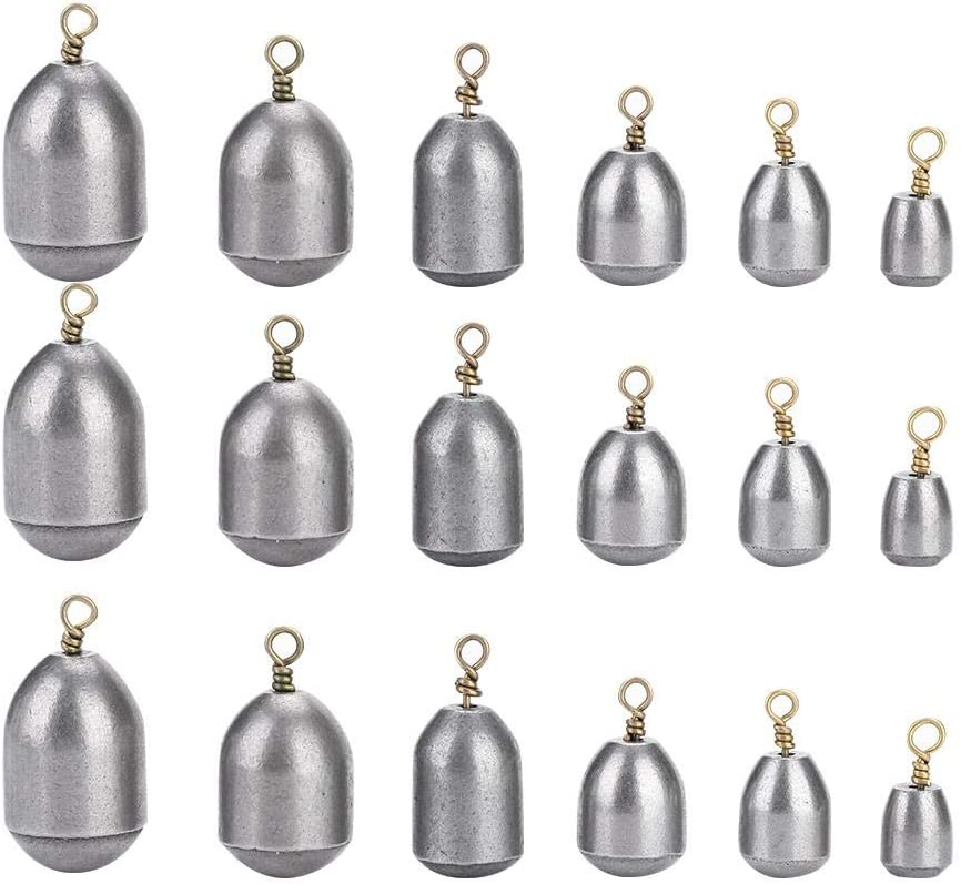 Fishing Sinkers Annjom 360/° Rotation Fishing Weights Bass Casting for Sea Fishing Saltwater