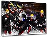 Bremerhaven Eishockey, Fan Artikel Leinwandbild, Größe: