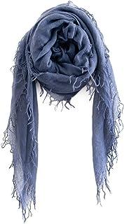 Chan LUU NEW Indigo Cashmere & Silk Soft Scarf Shawl Wrap