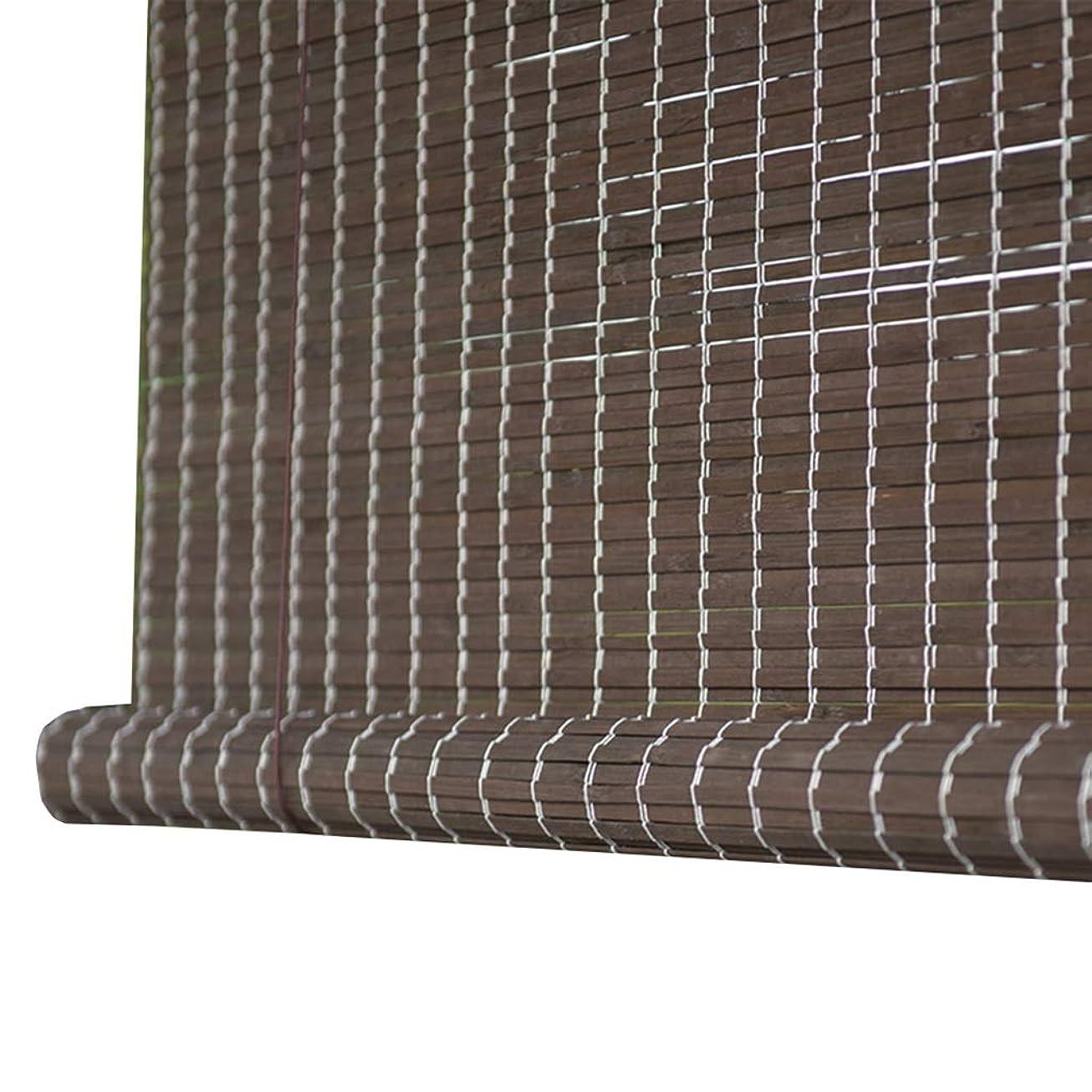 噴出する要件としてすだれ ロールスクリーン 黒いローラーブラインドブラインド、100 cm / 120 cm / 140 cm幅 - 90%遮光竹窓日よけ、戸口の正面玄関 (サイズ さいず : 140×170cm)
