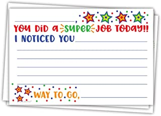 Super Job - Teacher Notes to Parents - Classroom Incentive Cards to Send Home - Motivational Good Behavior Cards [Package of 50]