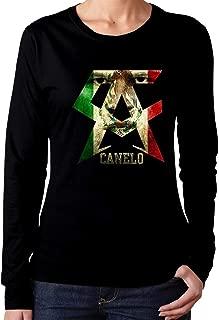 Women's Long Sleeve T-Shirt Canelo Alvarez Unique Classic Fashion Style Black