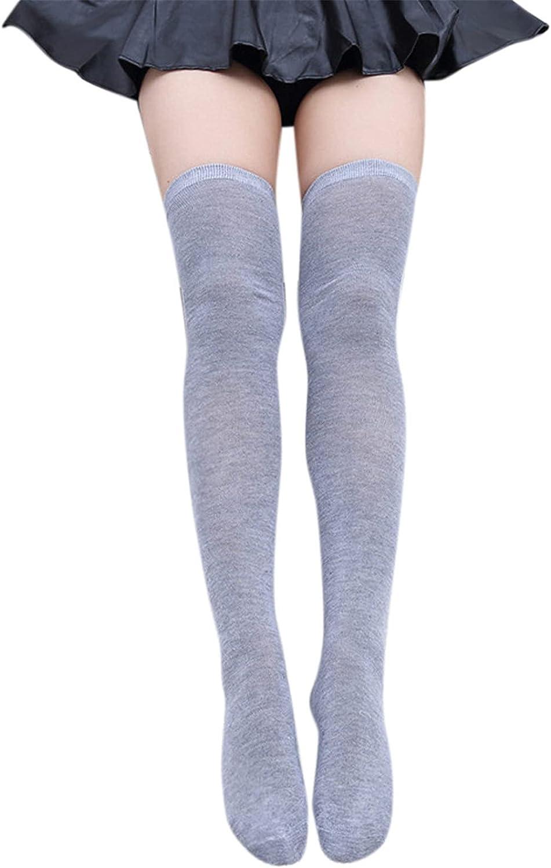 GTYX Womens 1 Pair Over Knee Thigh High Socks Lingerie Leg Warmers Solid Leggings Winter Warm Long Boot Sock Stockings