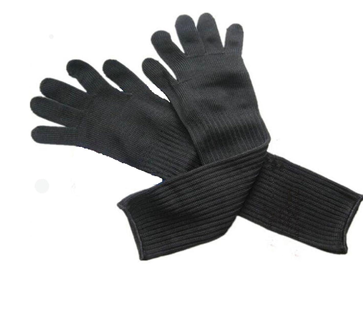 本部アウトドア保持するZMAYA STAR 切れない手袋 防刃長手袋 作業グローブ 耐切創手袋 耐磨耗性 腕も保護 防刃スリーブ 手首 ヒジをがっちりガード ZA-FGST-6