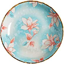 Dinner plate Porcelain Brakfast Dishes Square Round 7inch Deep Plates Household Dinner Sushi Desert Steak Handpainted Plat...
