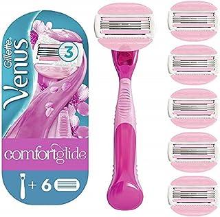 Venus ComfortGlide Spa Breeze, Cuchillas Afeitar Mujer, Maquinilla + 5 Recambios, Paquete Apto para el Buzón de Correos