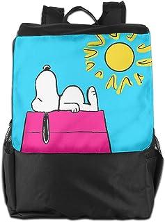 Mochila de viaje Sunny Day Snoopy ligera de poliéster mochila de viaje senderismo bolsa de camping para hombres y mujeres