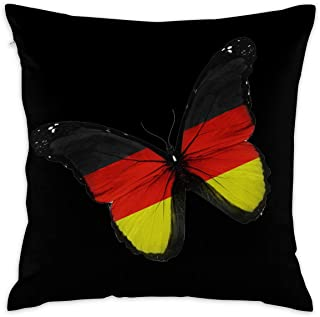 Newhomestyle Black Butterfly Throw Pillow Cover Boho Retro Cushion Cover for Living Room Couch Sofa Hidden Zip Two Sides