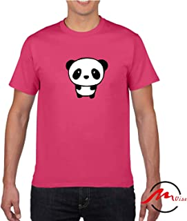 ZMvise Love Cute Panda Pattern Novelty Cotton Tee Unisex Adult Youth Tshirt Quote T-Shirt
