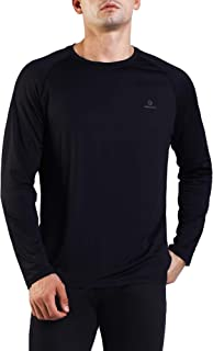Men's Cool Dry Long Sleeve Athletic Workout Shirts Moisture Wicking T-Shirt Sport Running Gym Tops