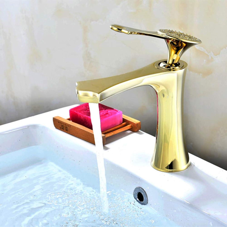 Waschtischarmaturen YHSGY Waschtischarmaturen Weie Farbe Waschtischmischbatterie Bad Wasserhahn Hei Und Kalt Verchromt Messing Waschbecken Wasserkran Gold