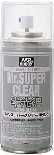 Mr.スーパークリアー スプレー 半光沢 B516 半光沢仕上げ塗料