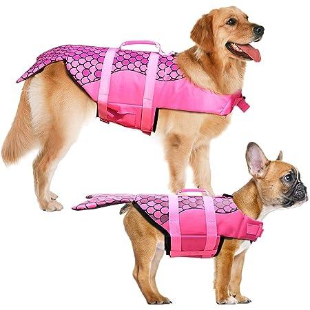 Adjustable Pet Floatation Vest Lifesaver Safety Vest Life Preserver for Small Medium Large Dogs Zuozee Dog Life Jacket