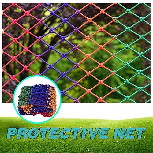 HJBhjb Farbe Nylon Flexibles Netz for Kinderschutz Garten Bepflanzung Dekoration Foto Wall Net Baumhaus Deckendekoration Hammock Balkon Geländer Schutznetz (Nylon) (Size : 1x1m=3.3x3.3ft)