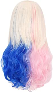 Woman's Colorful Wigs,18 Inches Wavy Curly Hair Wigs - Cosplay Party Costume Wigs for Halloween