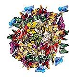 BABYCOW 100 Pezzi Farfalle Colorate Giardino, Decorazioni Giardino Farfalle in Stecca vasi Fiori Decorazione Giardino, Ornamenti Farfalle Patio Impermeabili su bastoni Ornamenti Patio