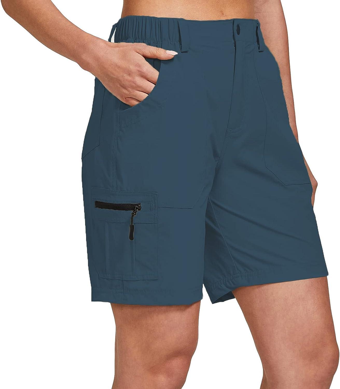 ChinFun Elegant Women's Stretch Surprise price Cargo Q Hiking Shorts Lightweight