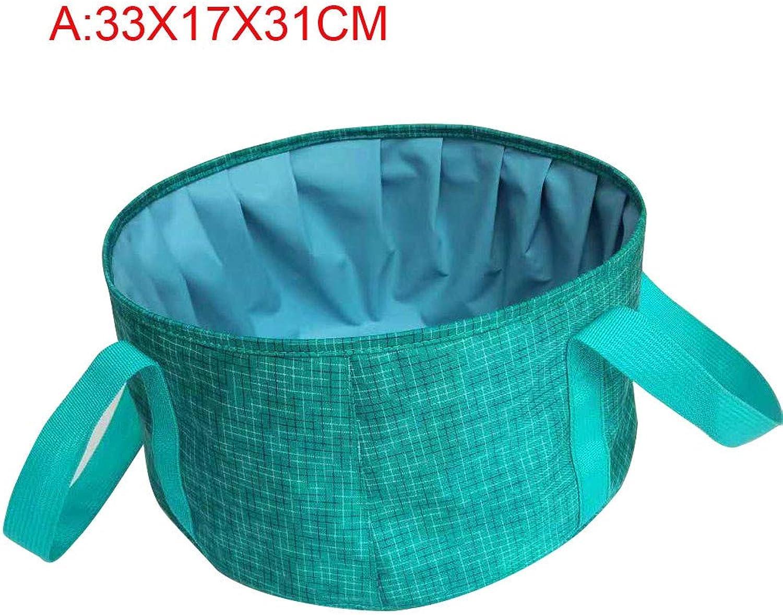 Ouniman Lightweight Portable Folding Wash Basin Bucket Foldable Collapsible Bucket Trips Outdoor Wash Basin Folding Bucket for Camping Hiking Travelling Fishing Washing  33x17x31 cm
