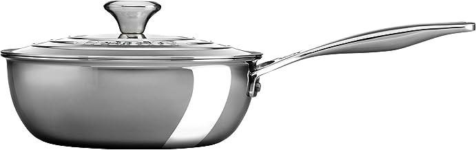LE CREUSET Le Creuset-3-ply multilayer material Plus saute pan, 20 cm, Silver