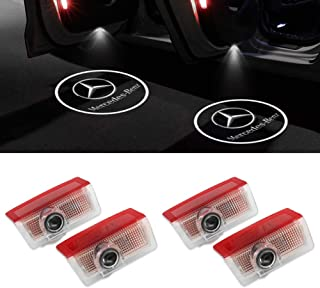 KRADA Car Door Logo Light LED Projector Ghost Shadow Welcome Lights for Mercedes Benz Emblem Courtesy Step Lights Kit Replacement (4 Pack)