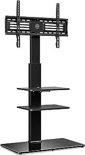 FITUEYES Soporte Giratorio de TV de 32 a 65 Pulgadas con 3 Estantes Soporte de Suelo para Televisión LCD LED OLED Plasma P...